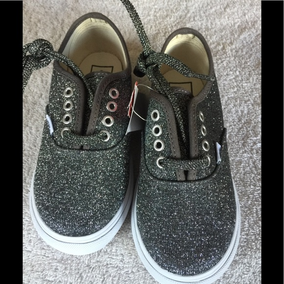 6416ce0a1a9f Vans Toddler Authentic Lurex glitter silver shoes